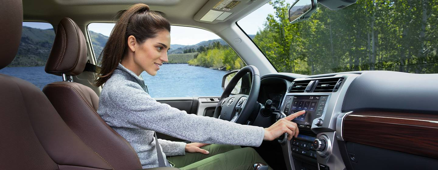 Safety features and interior of the 2020 Toyota 4Runner – for sale at our Toyota dealership in the Tampa Bay area.
