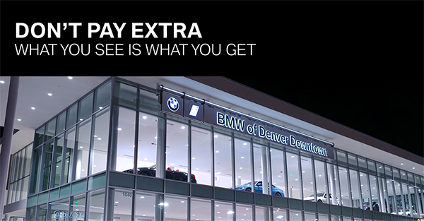 Bmw Of Denver >> No Dealer Handling Fees Bmw Of Denver Downtown