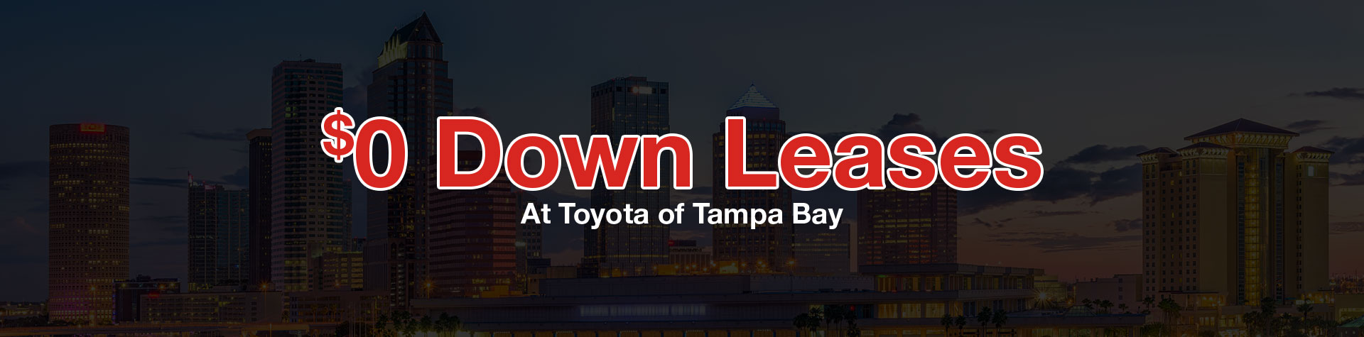 $0 Down Leases At Toyota of Tampa Bay