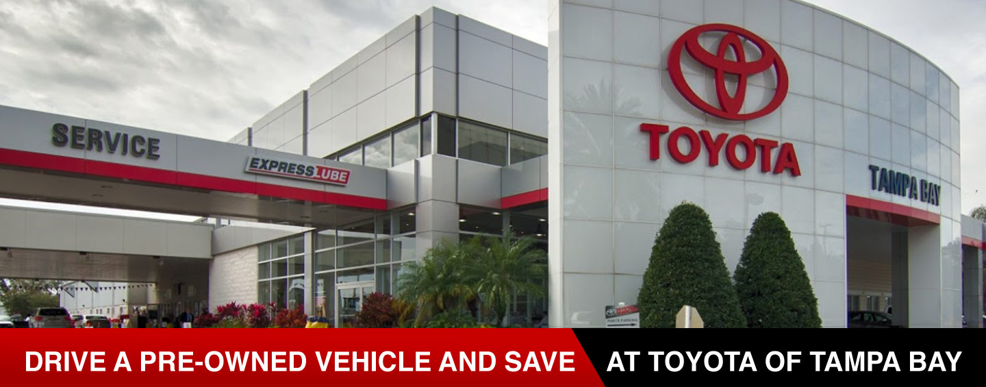 Toyota of Tampa Bay has a large inventory of certified pre-owned and used cars for sale in Tampa, FL.