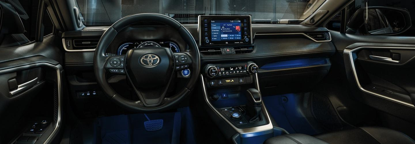 Interior image of the 2020 Toyota RAV4.